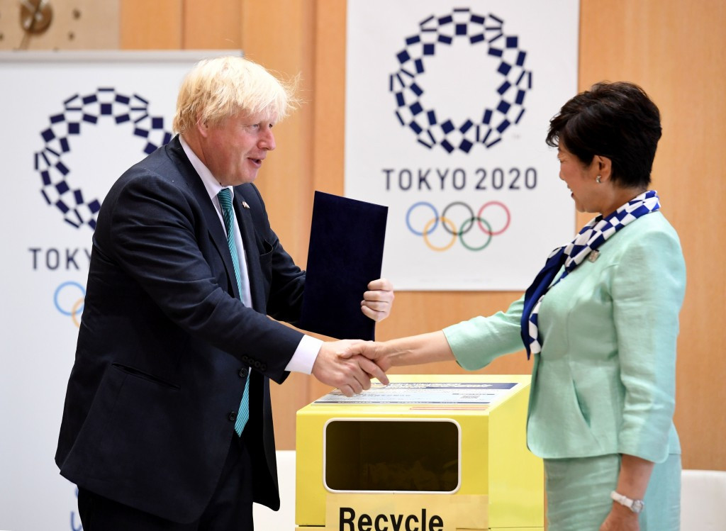 Boris Johnson offers Tokyo Governor advice about Olympic hosting