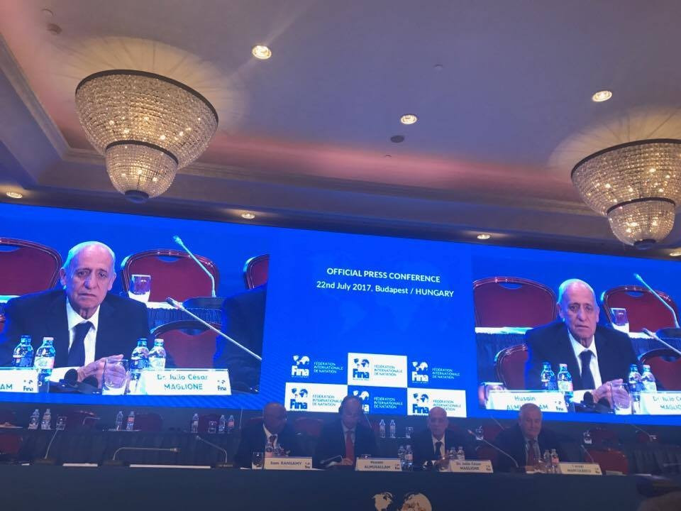 Julio Maglione has been re-elected as President of FINA following a vote in Budapest ©ITG