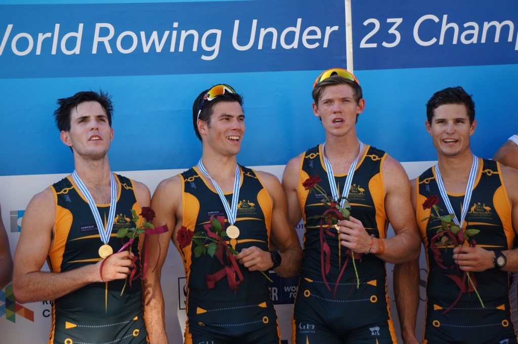 Australia solidify men's four dominance with gold at World Rowing Under-23 Championships