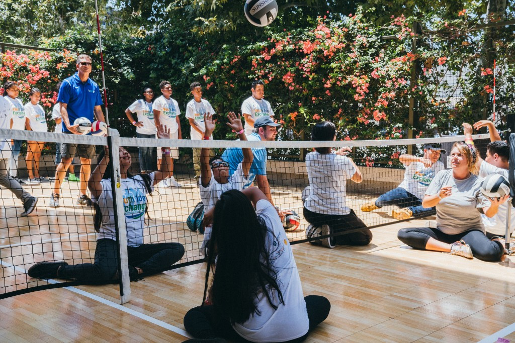 The event included a series of demonstrations of Olympic and Paralympic sports such as fencing, taekwondo and sitting volleyball ©Los Angeles 2024