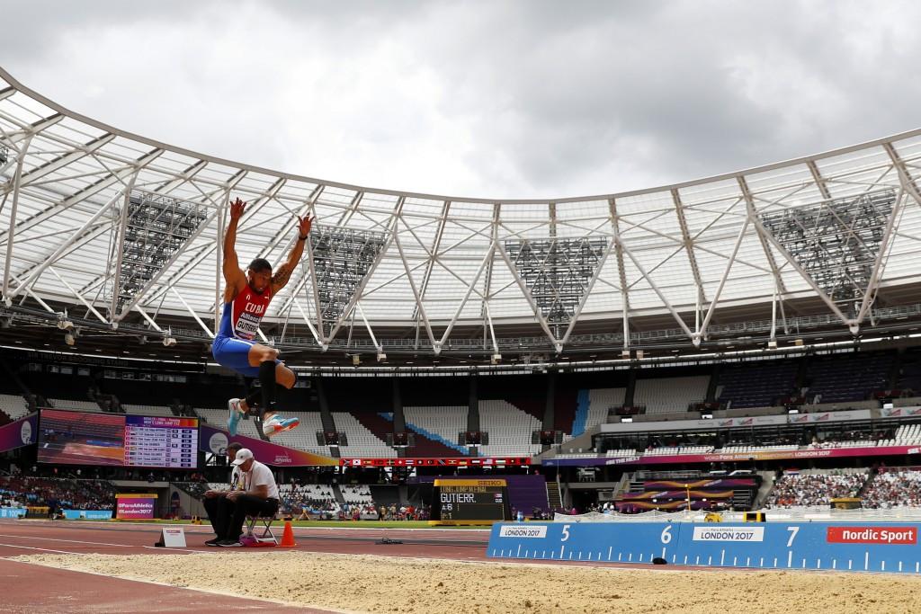 Cuba's Luis Felipe Gutiérrez broke the Championship record three times as he won the long jump T13 gold medal ©Getty Images