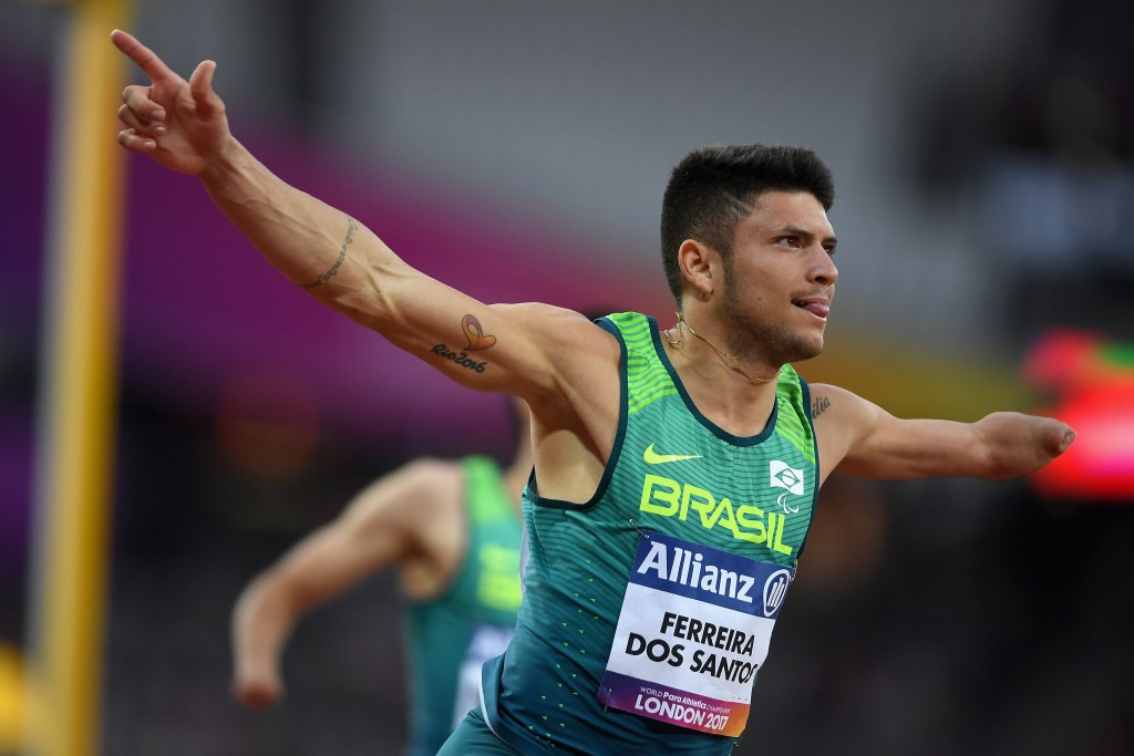 Petrúcio Ferreira will compete in the T47 100m where he will hope to become the fastest Paralympian in history ©Getty Images