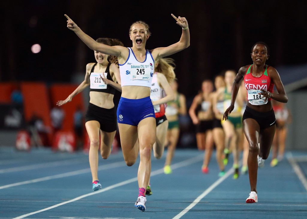 Scotland's Erin Wallace produced one of the moments of the Commonwealth Youth Games in The Bahamas with a stunning 1500m victory that marked her out as one to watch ©Getty Images
