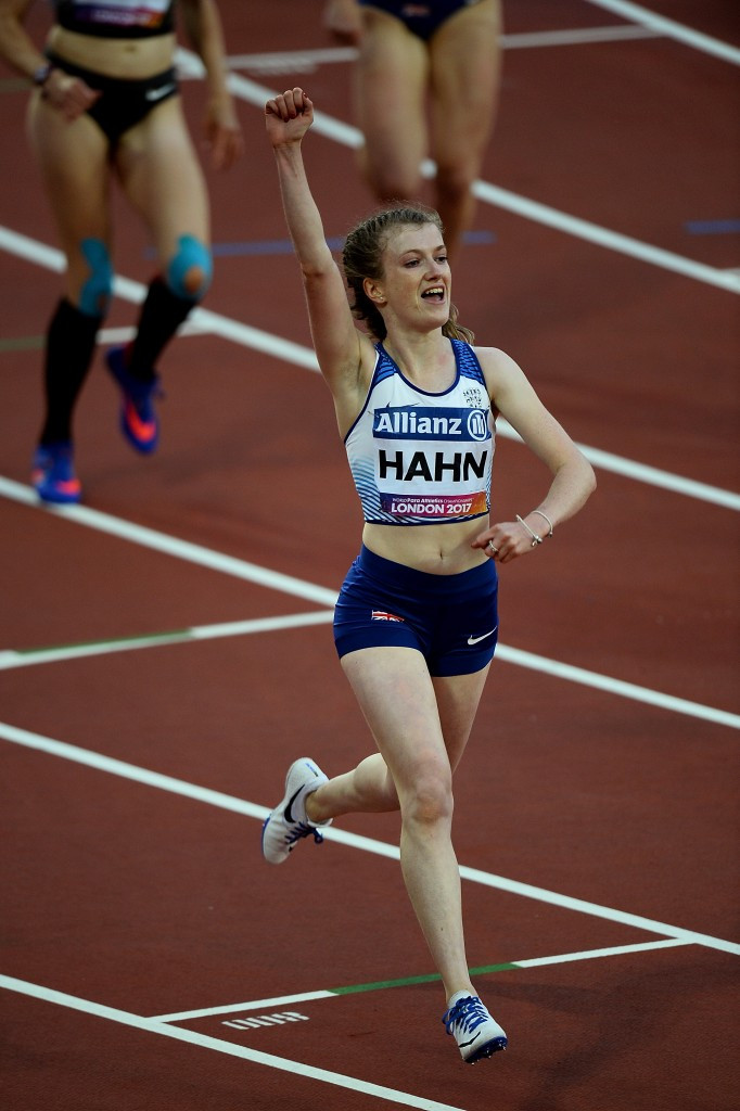 Great Britain's Sophie Hahn stormed to a world record time in the women's 100m T38 ©Getty Images