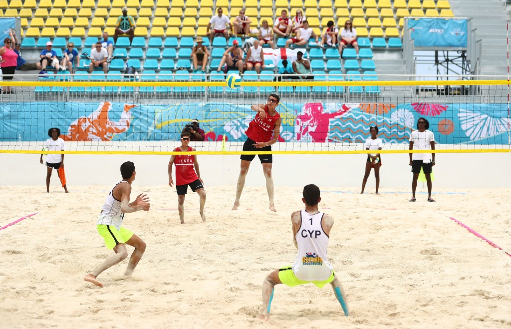 England beat Cyprus to secure the boys beach volleyball honours ©Getty Images