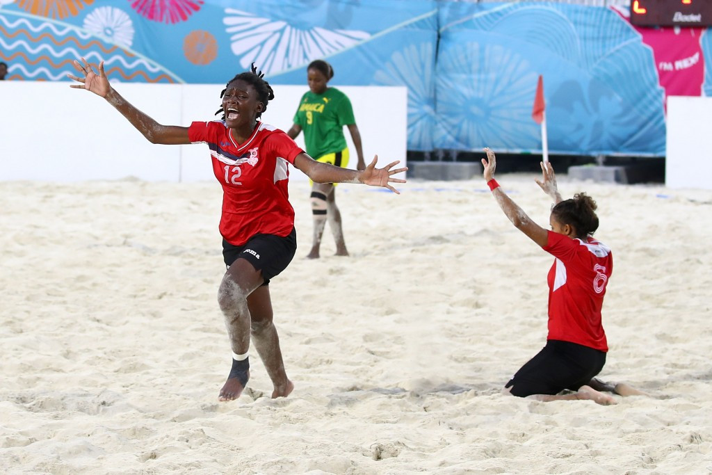 Trinidad and Tobago won the girls' beach soccer title by beating Jamaica 5-4 in a close final ©Getty Images