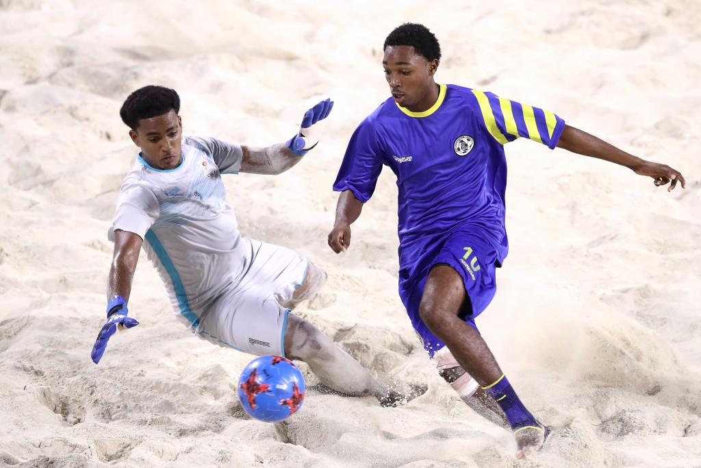 Saint Lucia clinched the boys beach soccer title with victory over Trinidad and Tobago in the final ©Getty Images
