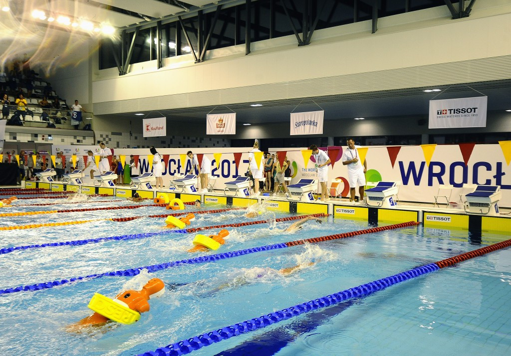 Eight sets of medals were awarded at the Orbita Indoor Swimming Pool today ©IWGA