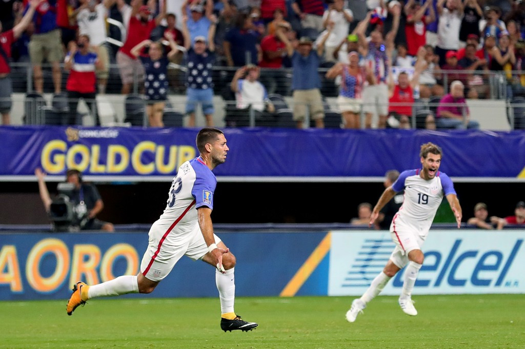Clint Dempsey scored a record equalling 57th goal for the United States ©Getty Images