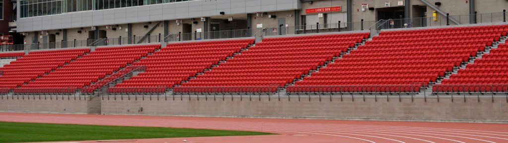 The Pan Am Athletics Stadium at York University would not be big enough to hold athletics at an Olympic Games ©Toronto 2015