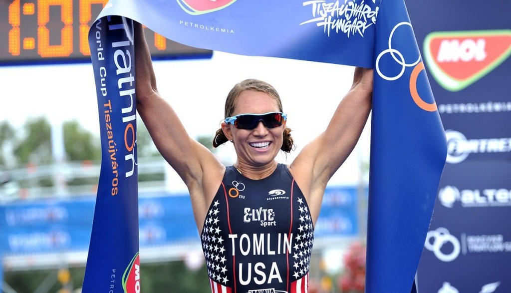 American Tomlin repeats victory at ITU World Cup in Tiszaujvaros