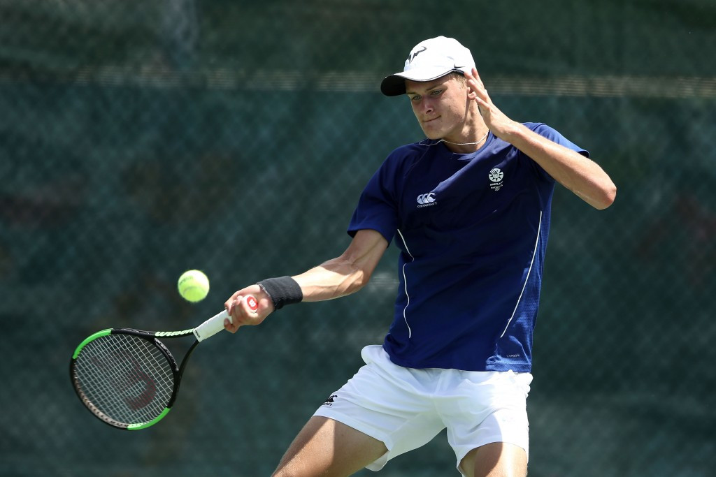Hamish Stewart of Scotland won the boys' singles tennis title ©Getty Images