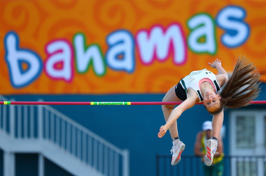 Sommer Lecky of Northern Ireland clinched the girls' high jump crown for Northern Ireland ©Getty Images