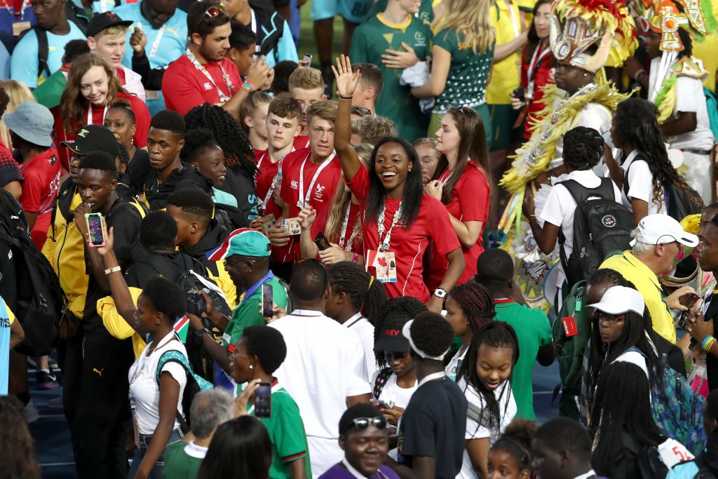 The sixth edition of the Commonwealth Youth Games came to an end with a festival-style Closing Ceremony ©Getty Images