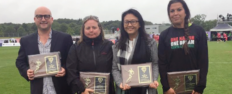 Four development awards were presented during the Women's Lacrosse World Cup Final ©FIL