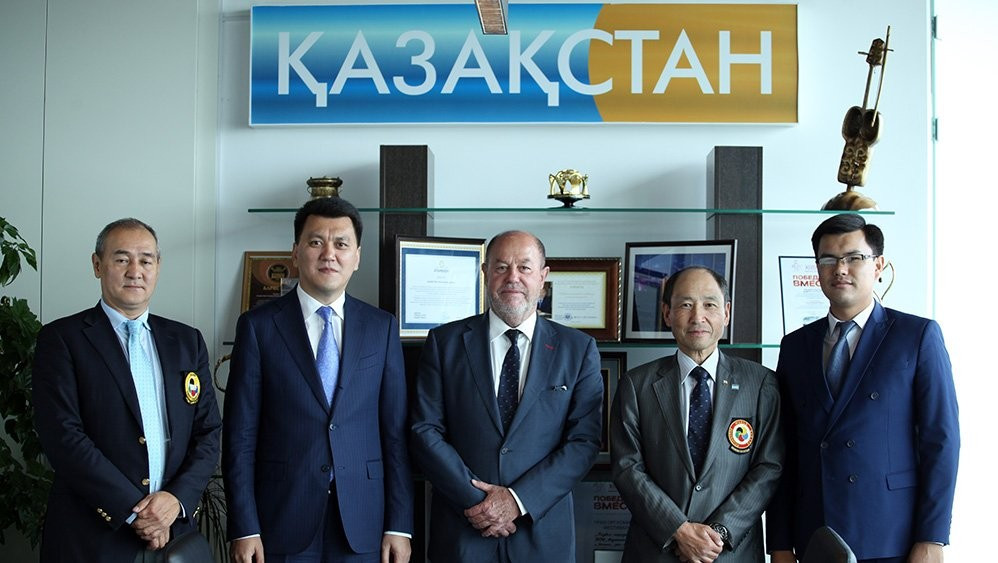 WKF President visits TV and radio corporation in Astana