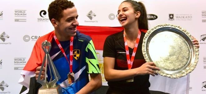 Egyptians Tarek and Araby taste victory at WSF World Junior Championships