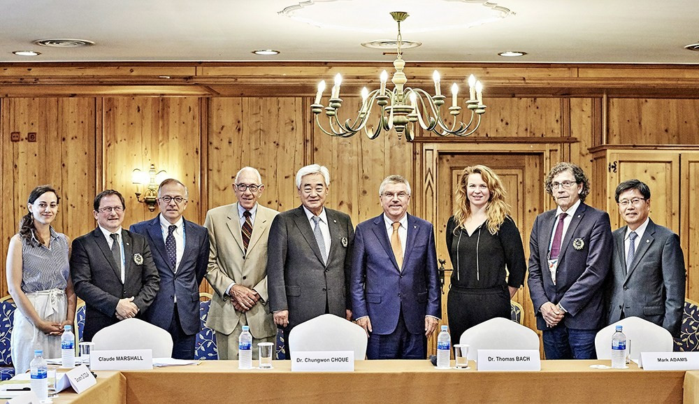 IOC President Thomas Bach attended the latest meeting of the Taekwondo Humanitarian Foundation ©THF