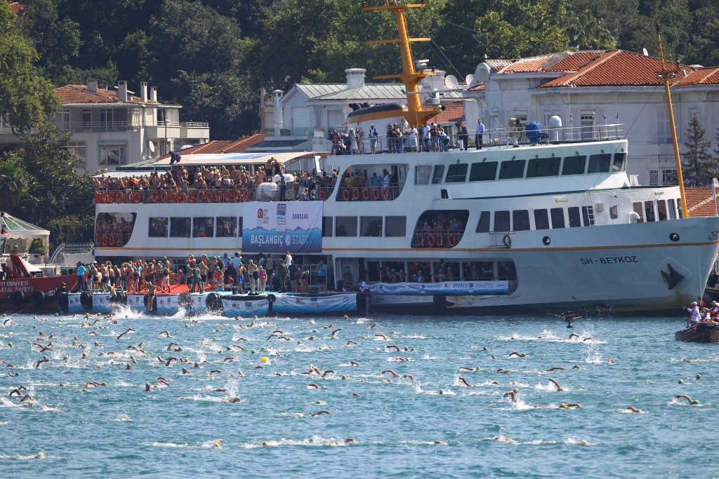 Swimmers made the journey from Asia to Europe ©TOC