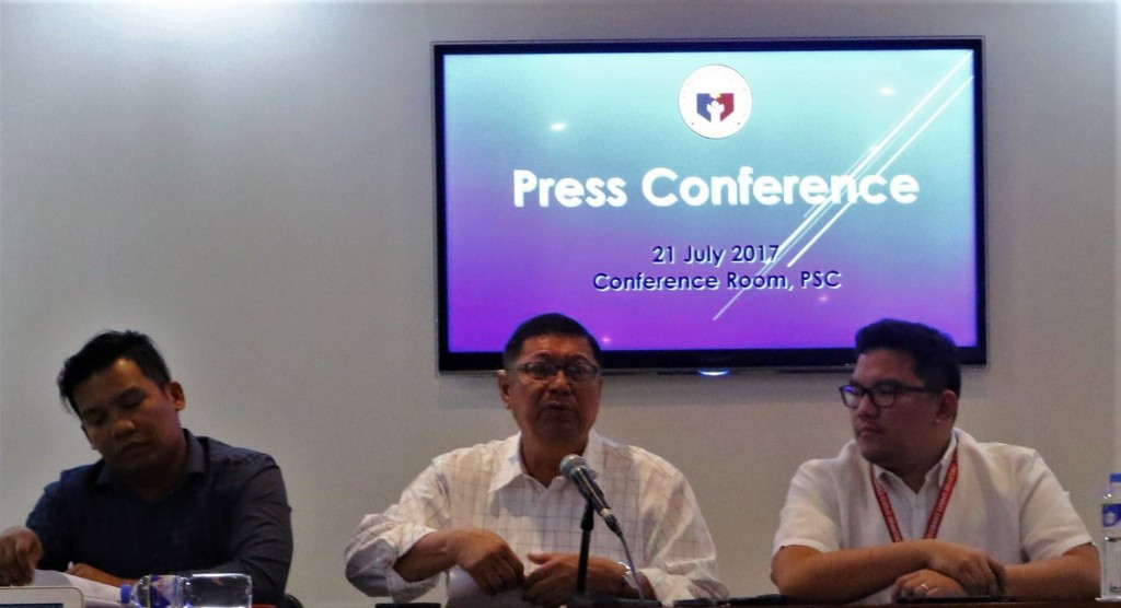 Philippine Sports Commission chairman William Ramirez made the announcement ©PSC