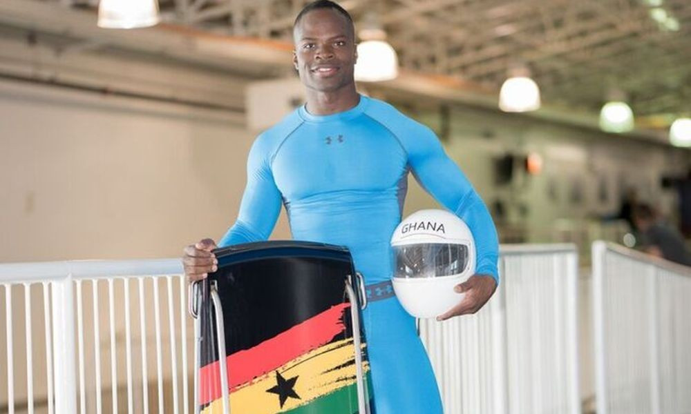Ghanaian skeleton athlete heads home to raise awareness for winter sport