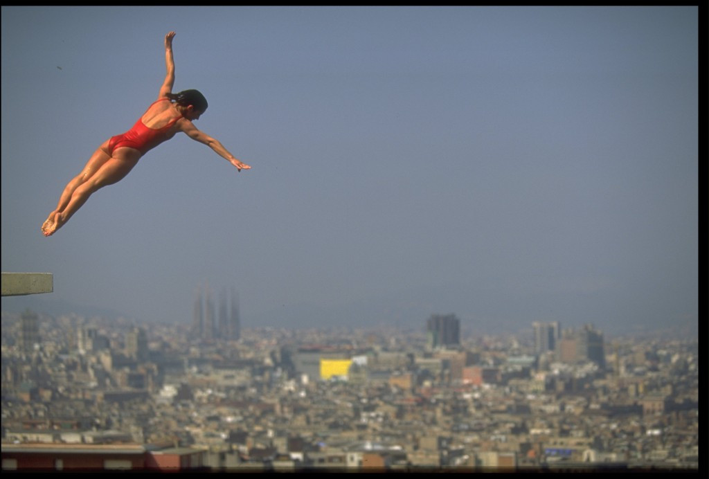 Diving provided iconic images from Barcelona ©Getty Images