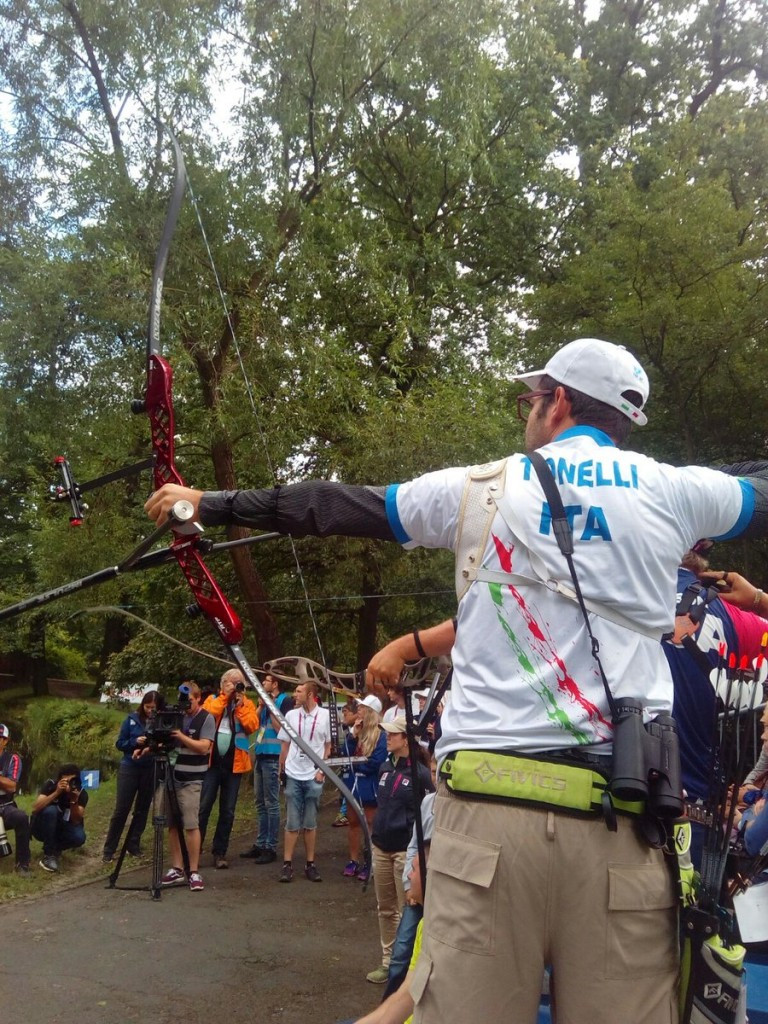 Italy's Amedeo Tonelli won the men's archery recurve title ©IWGA