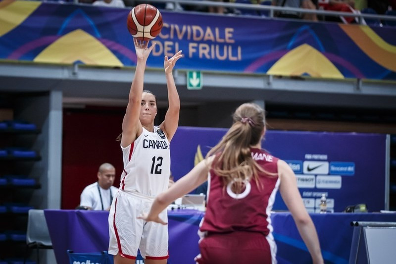 Canada edge past Latvia to top group at FIBA Women's Under-19 World Championship