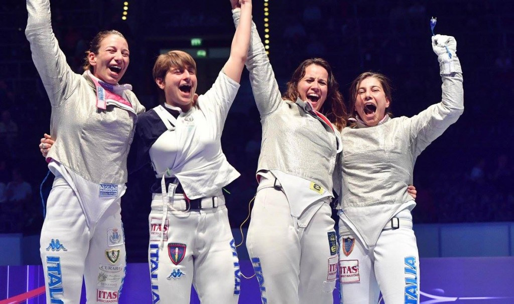 Italy earn women's team sabre gold at FIE World Championships