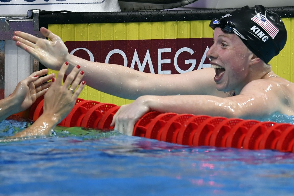 Lilly King won the women's 100m breaststroke title ©Getty Images