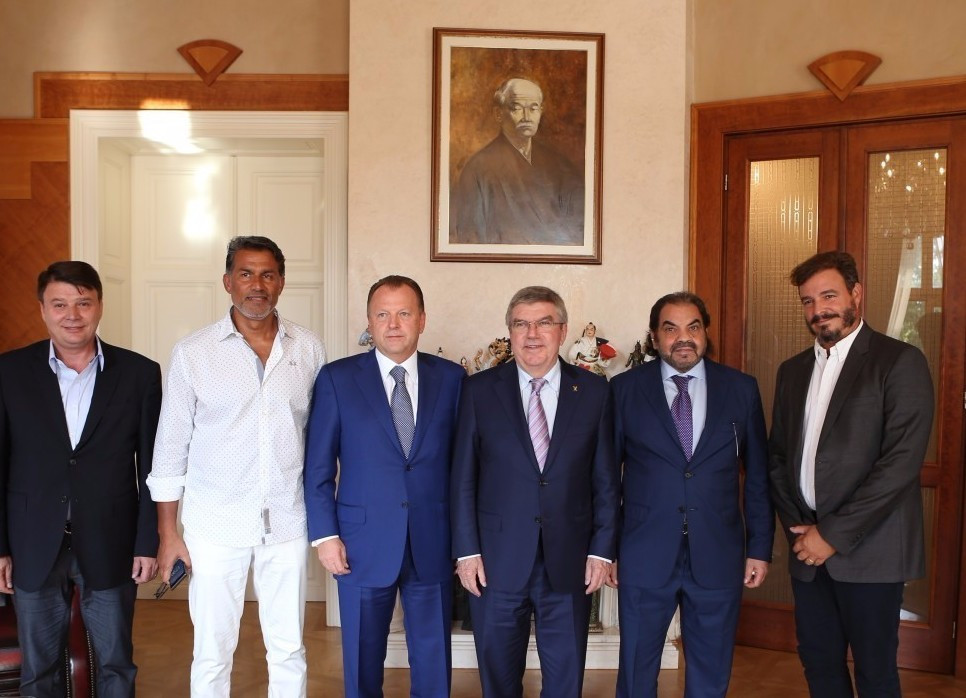 It marked one of the first official meetings between Marius Vizer and Thomas Bach since their 2015 dispute ©IJF