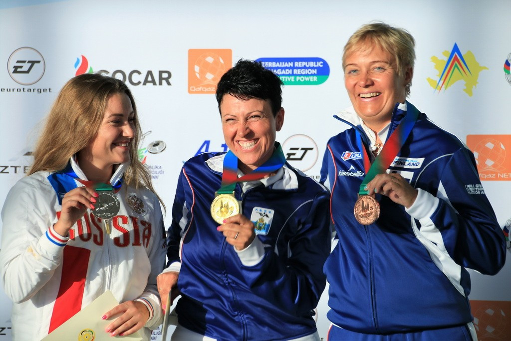 Arianna Perilli triumphed in the women's trap competition ©European Shooting Confederation
