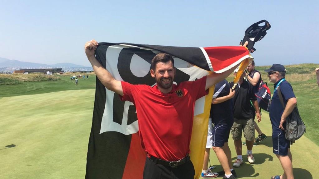 Allen John won golf gold at the Deaflympics ©German Deaf Sports Association