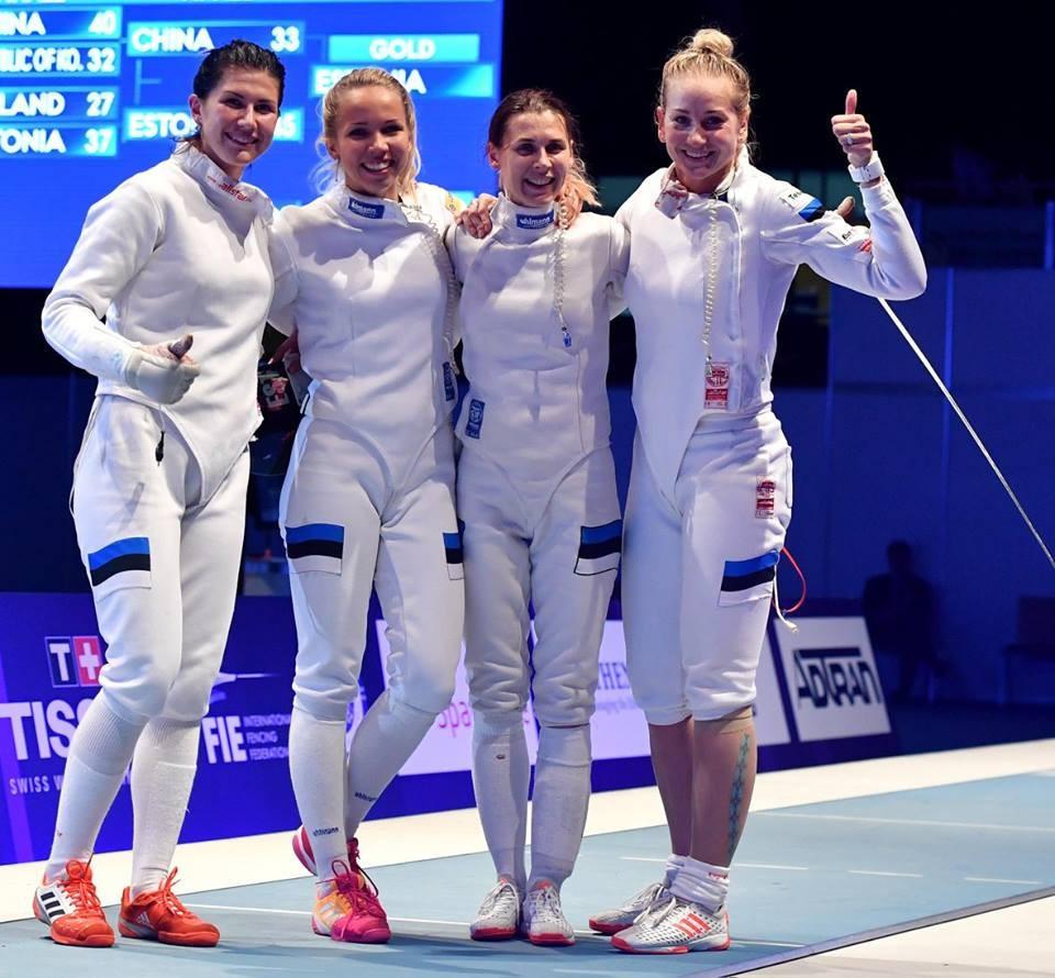 Estonia win maiden women's team épée gold at FIE World Championships