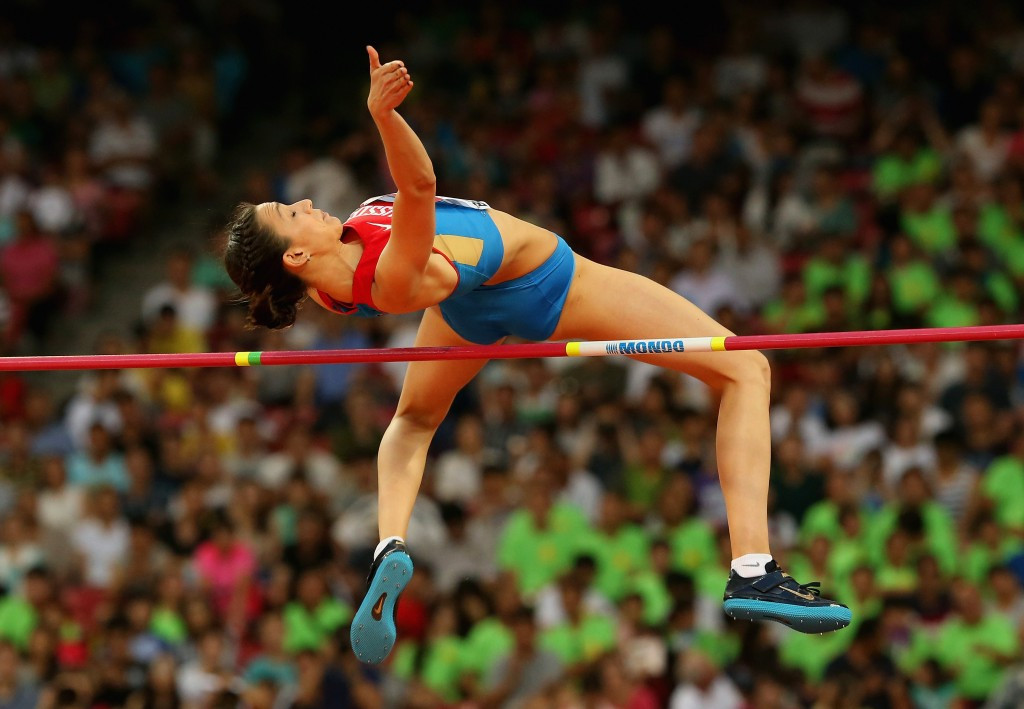 Women's high jump world champion Maria Kuchina is among the 19 Russian athletes cleared to compete at next month's IAAF World Championships ©Getty Images