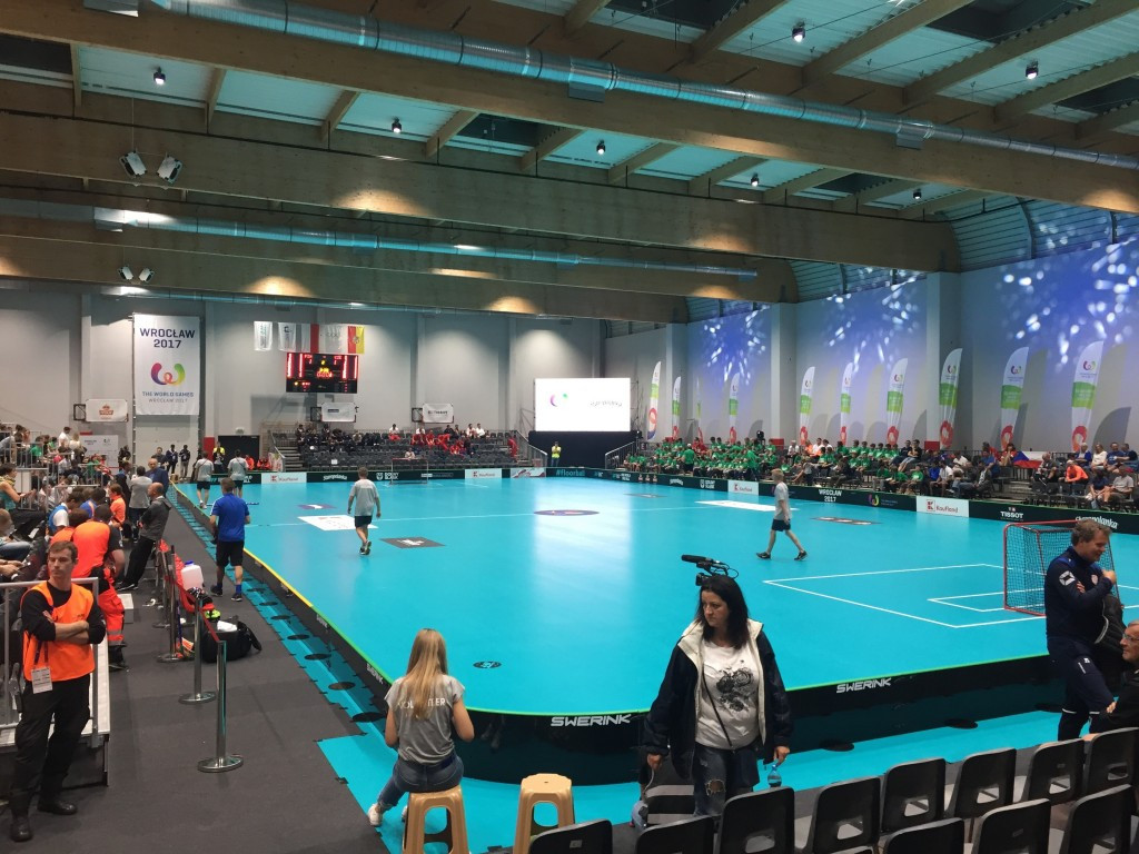 Floorball action began at the 2017 World Games today ©ITG