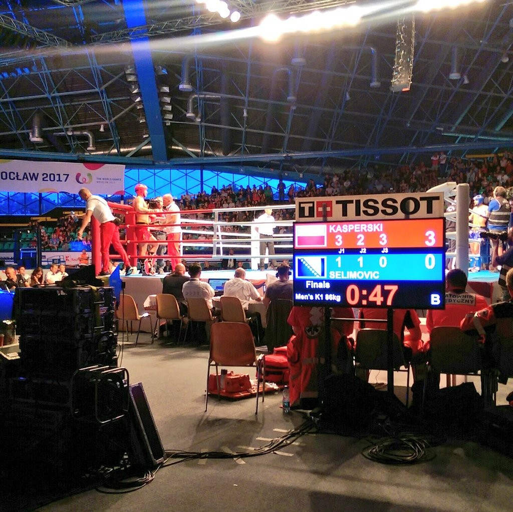 Double Polish delight in kickboxing on seventh day of competition at Wrocław 2017