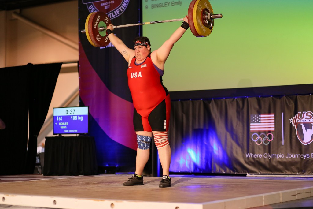Sarah Robles was part of the American gold rush in Miami ©USA Weightlifting