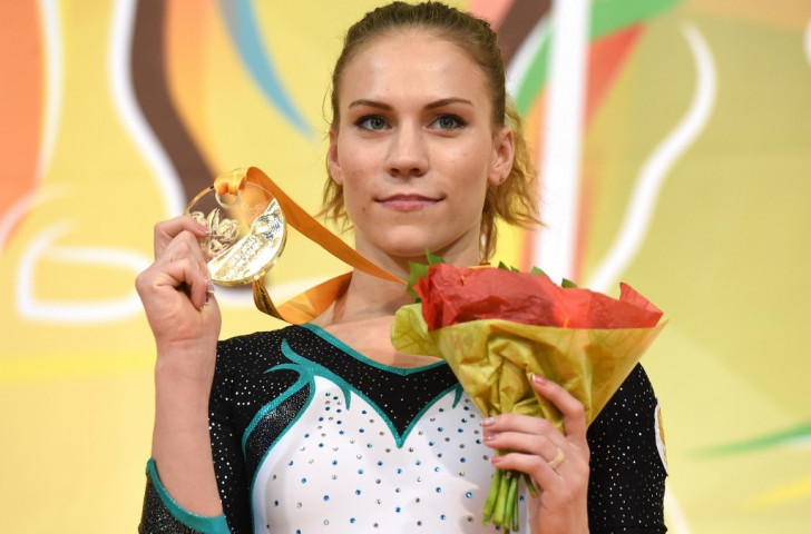 Ksenia Afanasyeva's performance on floor saw her claiming the European gold medal