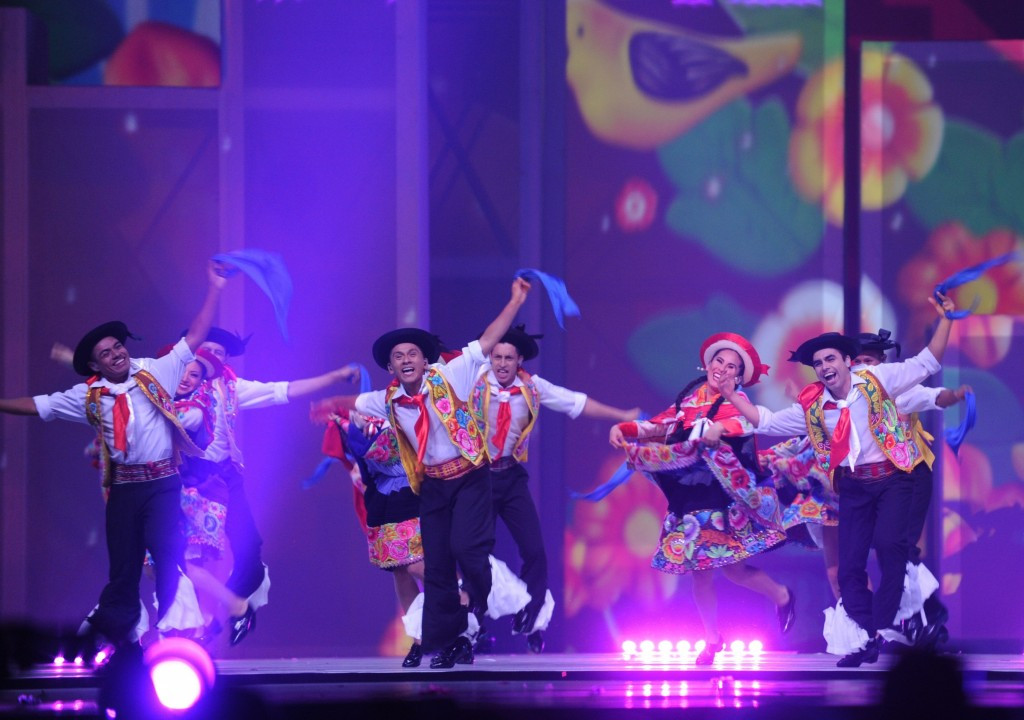 Lima's offered a showcase to their city's culture with dancing at the centre of their segment