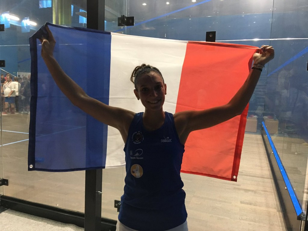 Camille Serme claimed the women's squash title today ©CNOSF