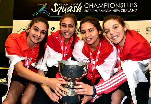 Egypt win sixth straight women's team title at WSF Junior Championships