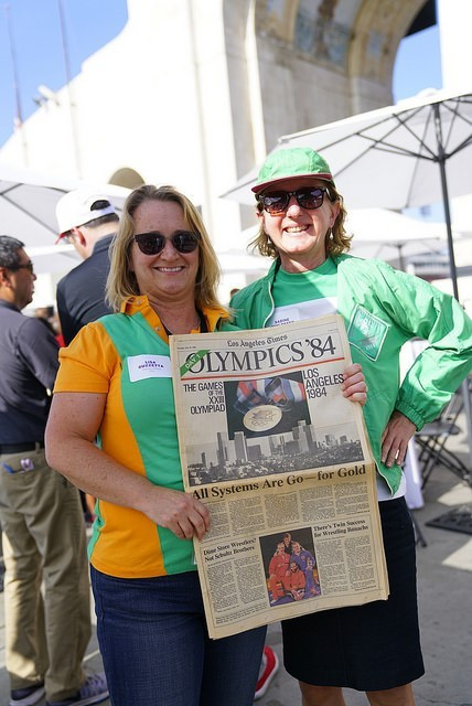More than 100 volunteers from the Los Angeles 1984 Games were in attendance at the reunion ©Los Angeles 2024