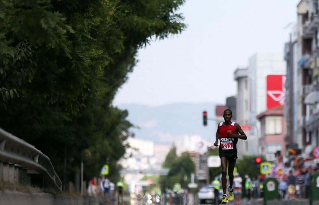 Kenya dominated the men's marathon as they swept the podium ©Twitter