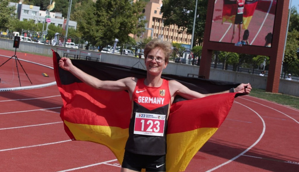Germany's Nele Alder-Baerens was among the record-breakers on the final day of athletics action ©Twitter