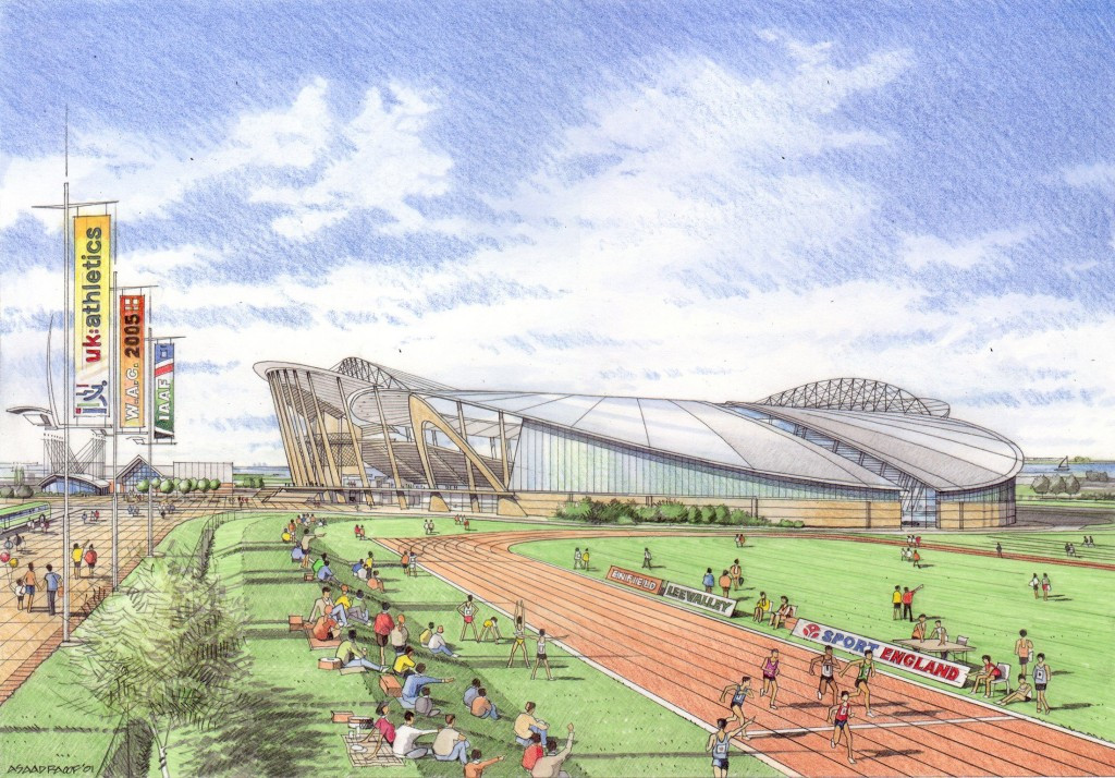 A proposed new stadium at Picketts Lock never came to pass ©UK Athletics