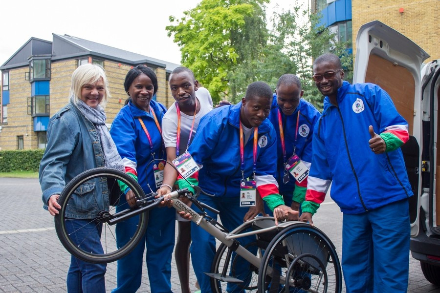 Namibia surprised with racing wheelchairs after joining IWAS