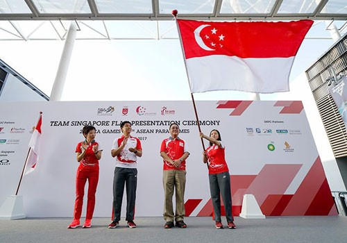 Singapore National Olympic Council hold flag ceremony for SEA Games