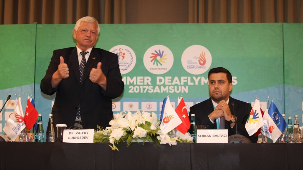 Valery Rukhledev has revealed the 2021 Deaflympics will be held in either Los Angeles or Dubai ©Samsun 2017