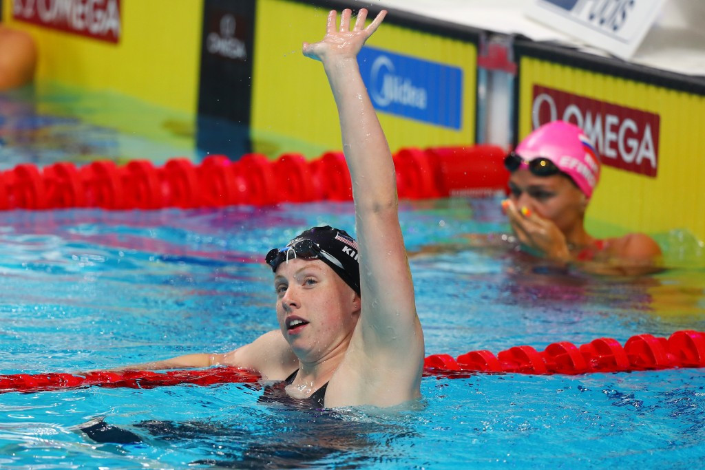 Lilly King beat her rival Yulia Efimova in the women's 50 metres breaststroke ©Getty Images